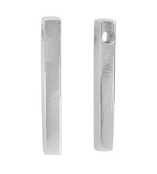 Rectangular Pendant, Sterling Silver