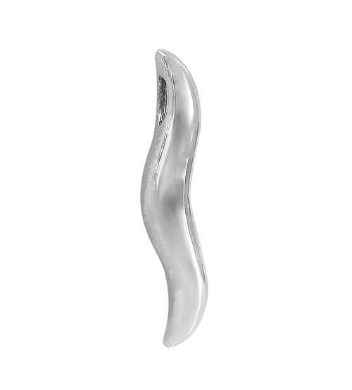 Italian Horn Pendant, Sterling Silver