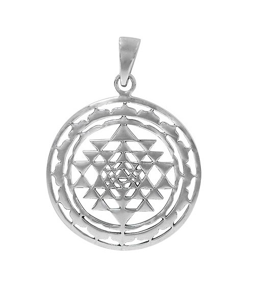Sri yantra pendant sterling silver noyes jewellers sri yantra pendant sterling silver aloadofball Image collections