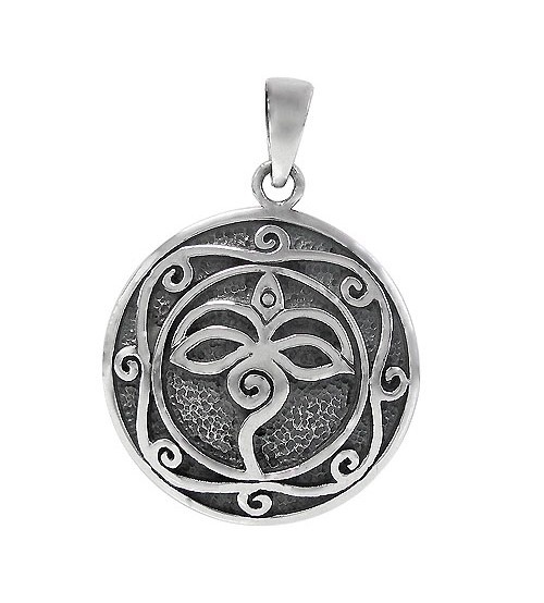 Round Pendant, Sterling Silver