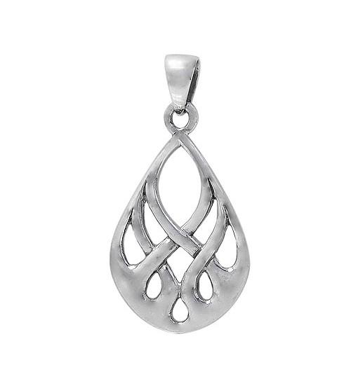 Teardrop Pendant, Sterling Silver