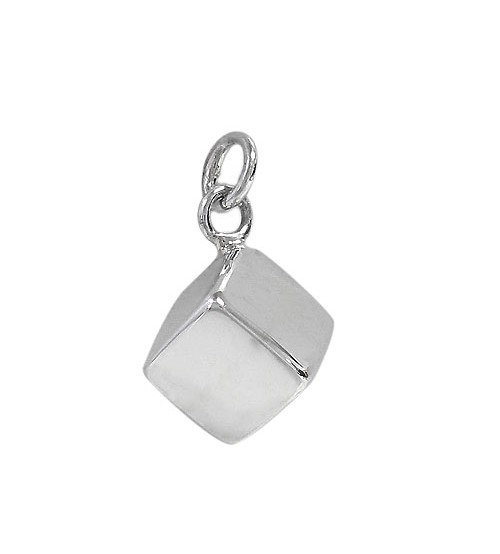 Cube Pendant, Sterling Silver