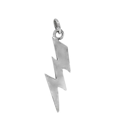 Lightning Bolt Pendant, Sterling Silver