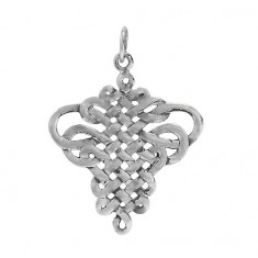 Cross Over Knot Pendant, Sterling Silver
