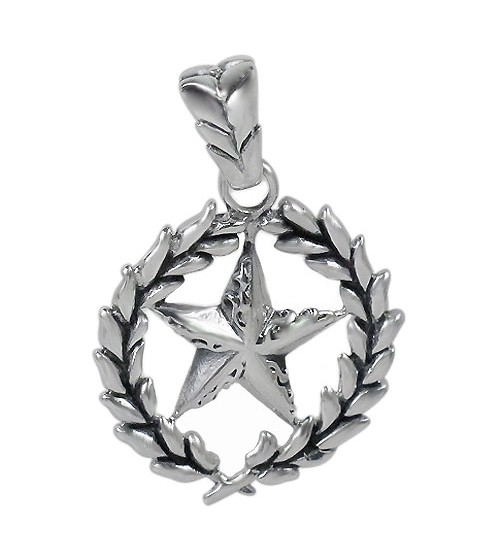 Smooth Unique Star Pendant, Sterling Silver