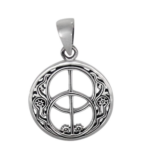 Smooth Unique Style Pendant, Sterling Silver