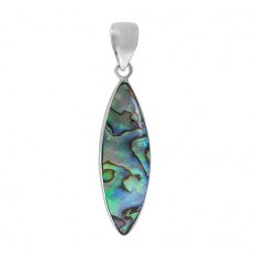 Marquise Abalone Pendant, Sterling Silver