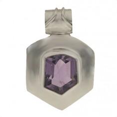 Free Shape Amethyst Pendant, Sterling Silver
