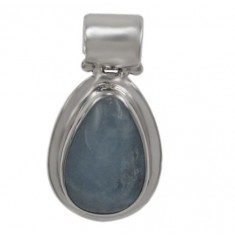 Free Shape Aquamarine Pendant, Sterling Silver