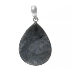 Teardrop Astrolite Pendant, Sterling Silver
