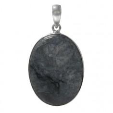 Oval Astrolite Pendant, Sterling Silver