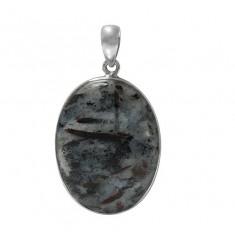 Oval Astrophyllite Pendant, Sterling Silver