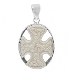 Cross Bone Pendant, Sterling Silver