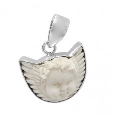 Angel Bone Pendant, Sterling Silver
