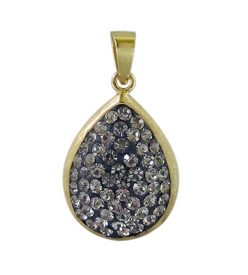 Gold plated teardrop crystal pendant sterling silver noyes jewellers gold plated teardrop crystal pendant sterling silver aloadofball Gallery