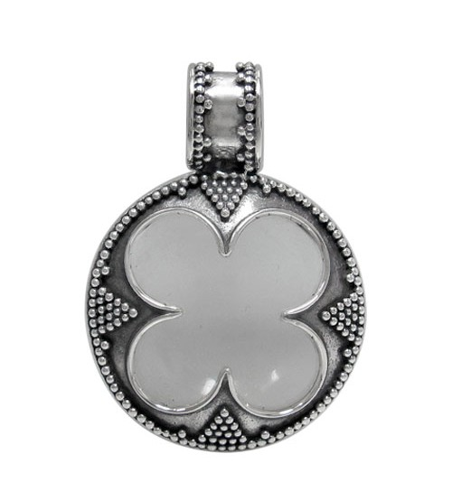 Unique round crystal pendant sterling silver noyes jewellers unique round crystal pendant sterling silver mozeypictures Gallery