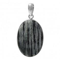 Oval Jasper Pendant, Sterling Silver