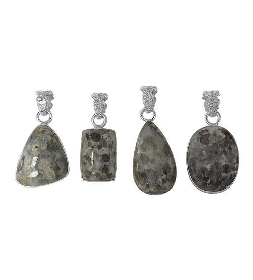 Free Form Jasper Pendant, Sterling Silver