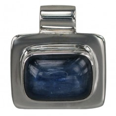 Rectangular Kyanite Pendant, Sterling Silver