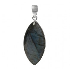 Marquise Labradorite Pendant, Sterling Silver