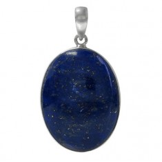 Oval Lapis Lazuli Pendant, Sterling Silver