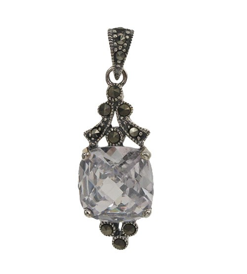 chain pendant colleen gem sterling and silver d marcasite products with lopez