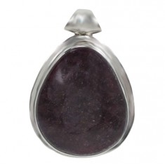 Free Form Muscovite Pendant, Sterling Silver
