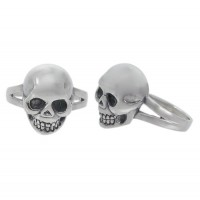 Skull Head Ring, Sterling Silver