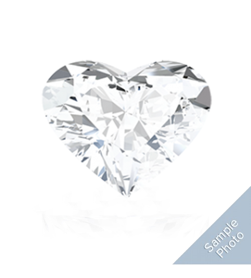 0.41 Carat E-Colour VS2-Clarity Good Cut Heart Diamond