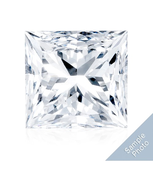 0.34 Carat H-Colour VVS2-Clarity Good Cut Princess Diamond