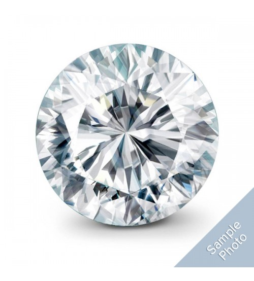 0.54 Carat H-Colour I2-Clarity Medium Cut Round Brilliant Diamond